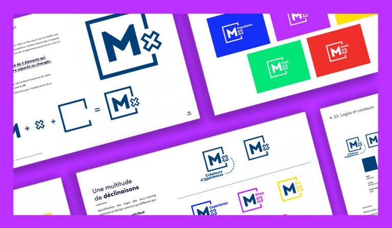 Identité visuelle concept store Mx Marseille